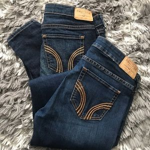 Bundle Hollister skinny low waisted jeans